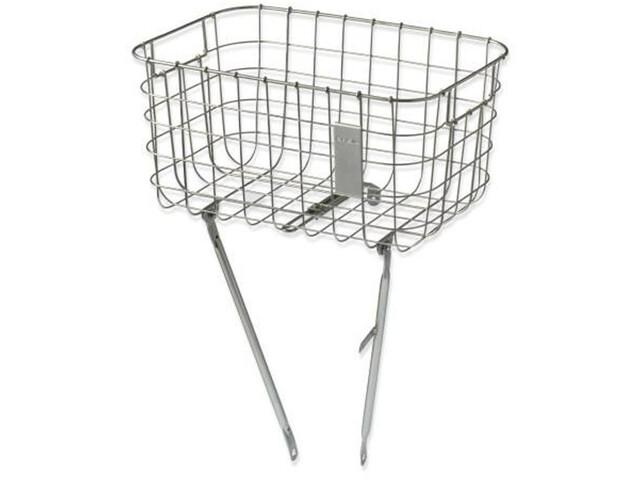 Basil Robin Front Wheel Basket, silver